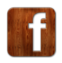 facebook, wood icon