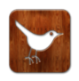 bird, twitter, wood icon