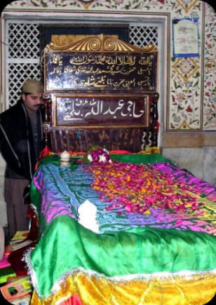A visitor at Baba Bulleh Shah Mazaar in Kasur