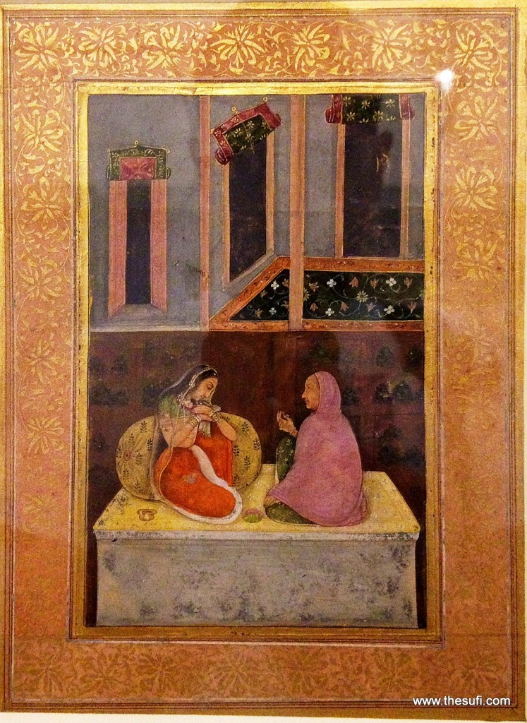 A PRINCESS AND AN OLD LADY Opaque watercolour on paper Provincial Mughal, probably Lucknow i c. 1760