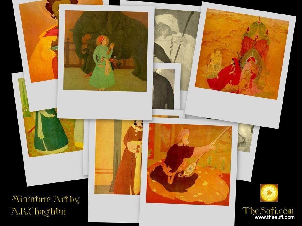 A.R.Chughtai: Miniature Art Desktop Wallpaper