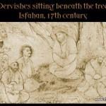 Dervish meeting under a tree