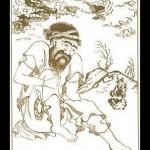 Sufi warming his feet in winters