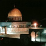 Dome of the Rock at Night - Old Rare Photo