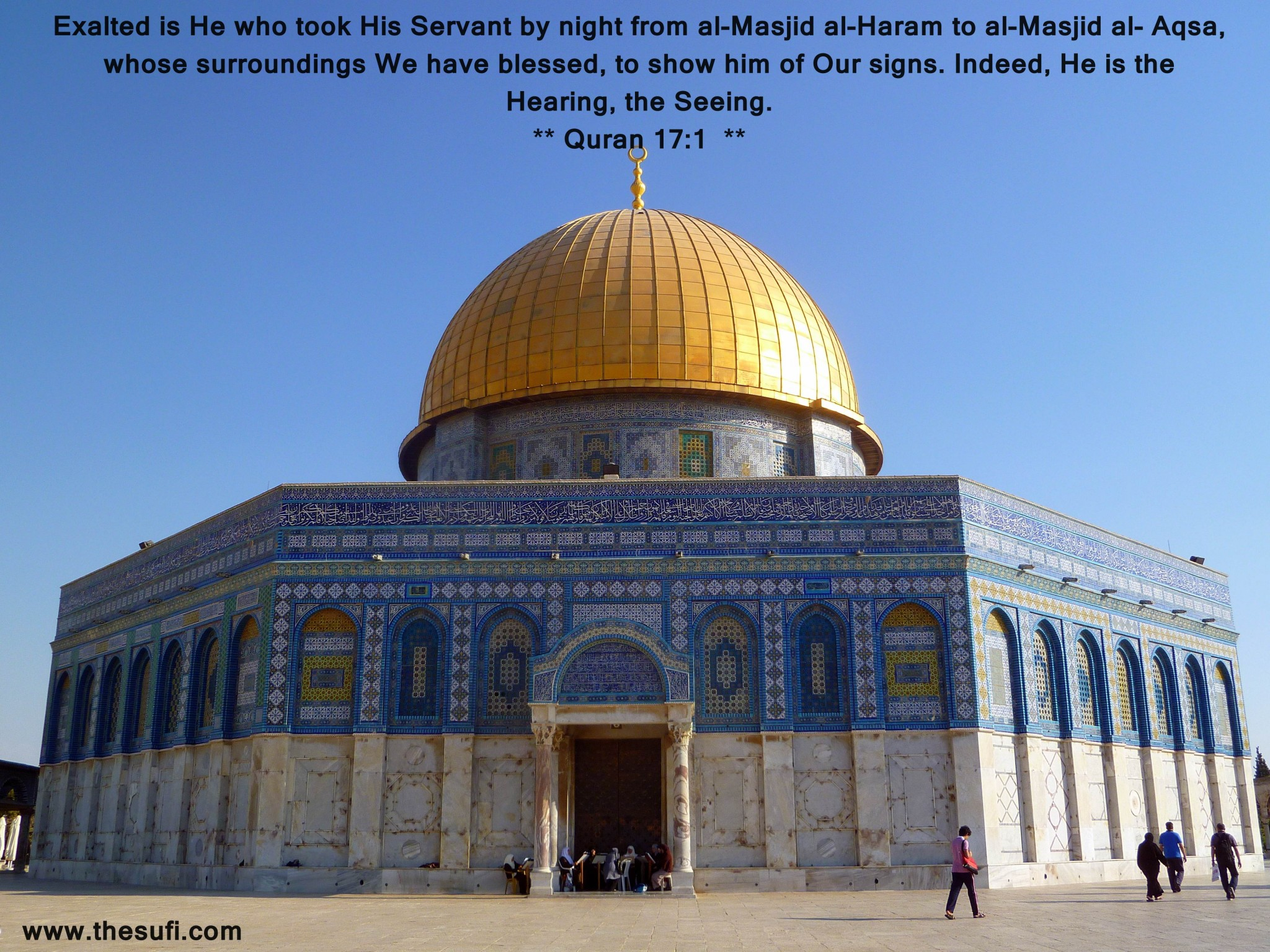 Golden Dome  - Ladies reading Quran at the door