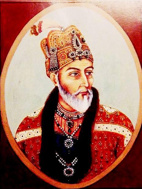 Miniature of Bahadar Shah Zafar