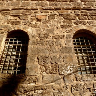 Wall in Jerusalem near Church of the Holy Sepulchre