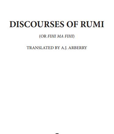 fi hi ma fihi - discourses of rumi ebook