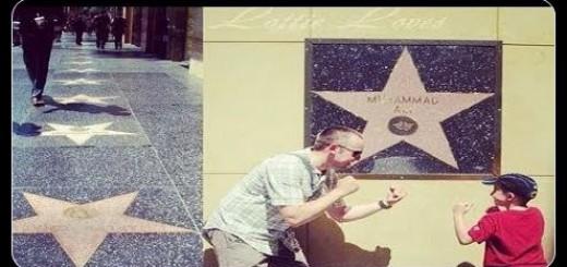 Muhammad Ali on Hollywood Walk of Fame
