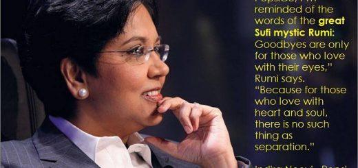 Indira Nooyi Rumi Quote