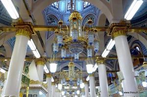 Interior of Masjid-e-Nabwi