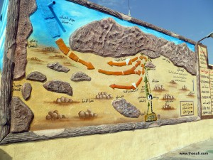 Ghazwa-e-Uhad (Battle of Uhad) as shown at site by display prepared by local school