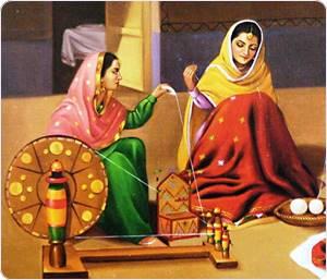 punjabi-women-spinning-charkha-QF81_l