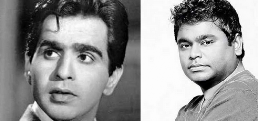 a.r.rahman and dilip kumar