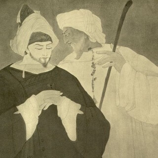 Sultan and Sufi: Miniature by A.R. Chughtai