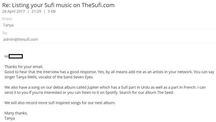 Tanya Wells [Seven Eyes]: Download 1000+ Sufi Music MP3 | TheSufi com