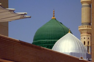 Green Dome of Masjide e Nabwi