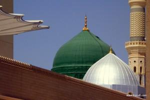 The Green Dome of Masjid-e-Nabwi (Gumbad-e-Khizra)